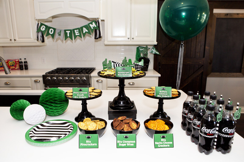 football game party ideas, recipes and printables