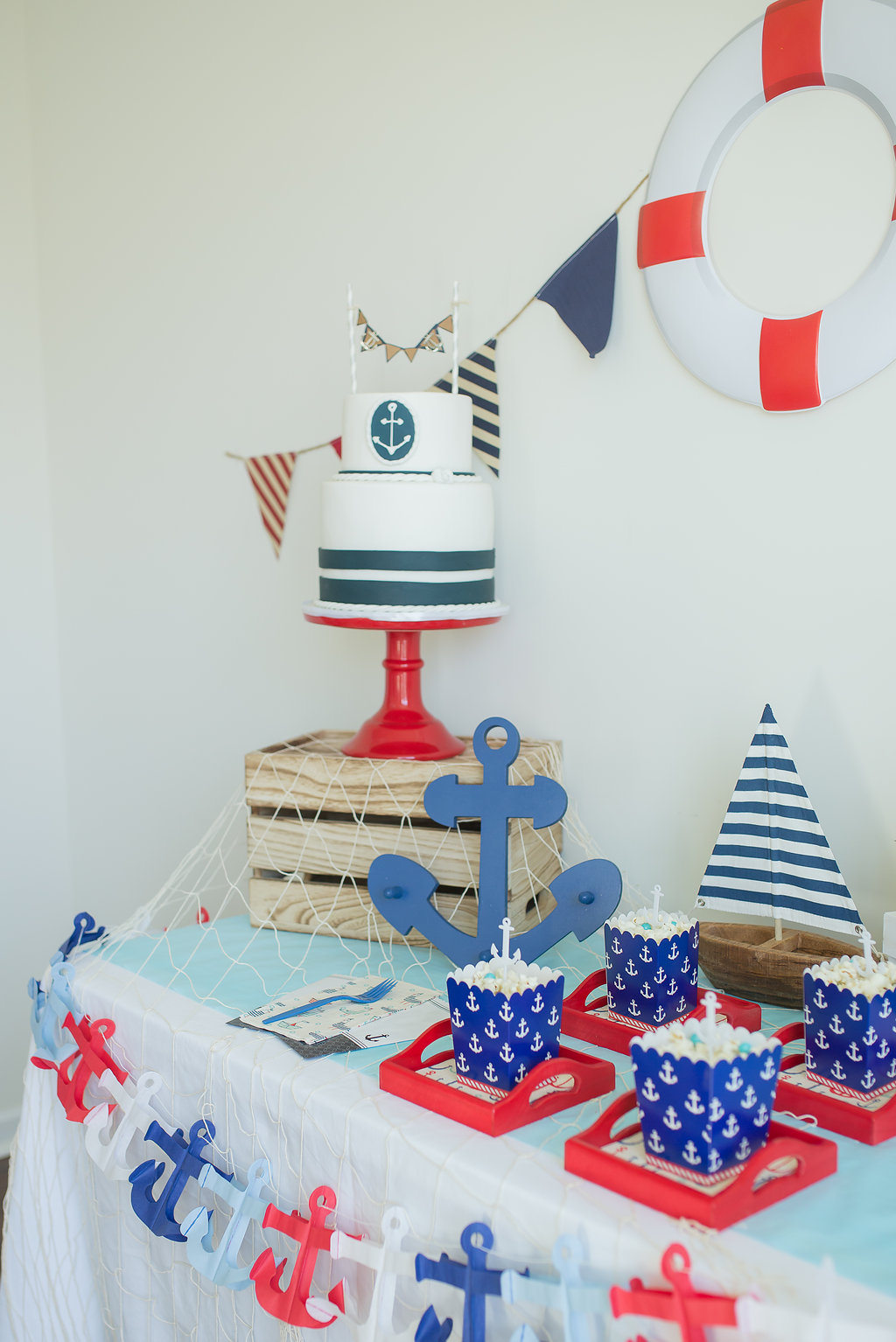 nautical baby shower ideas diy cake bunting
