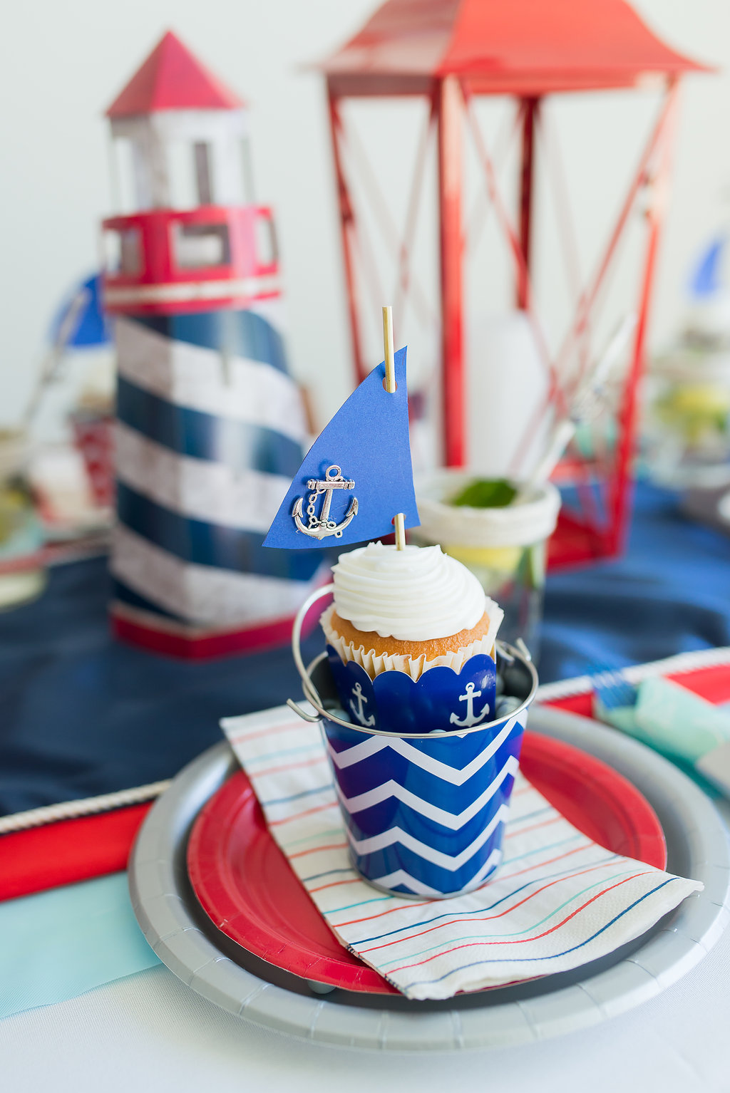Nautical Baby Shower Ideas DIY Nautical Sail Cupcake Topper