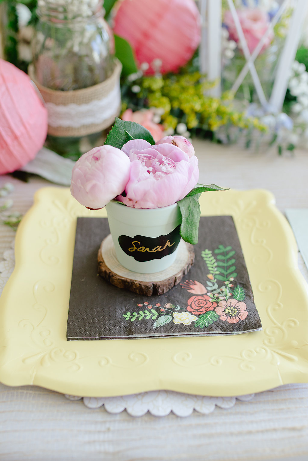 Garden Party Bridal Shower Ideas Favors
