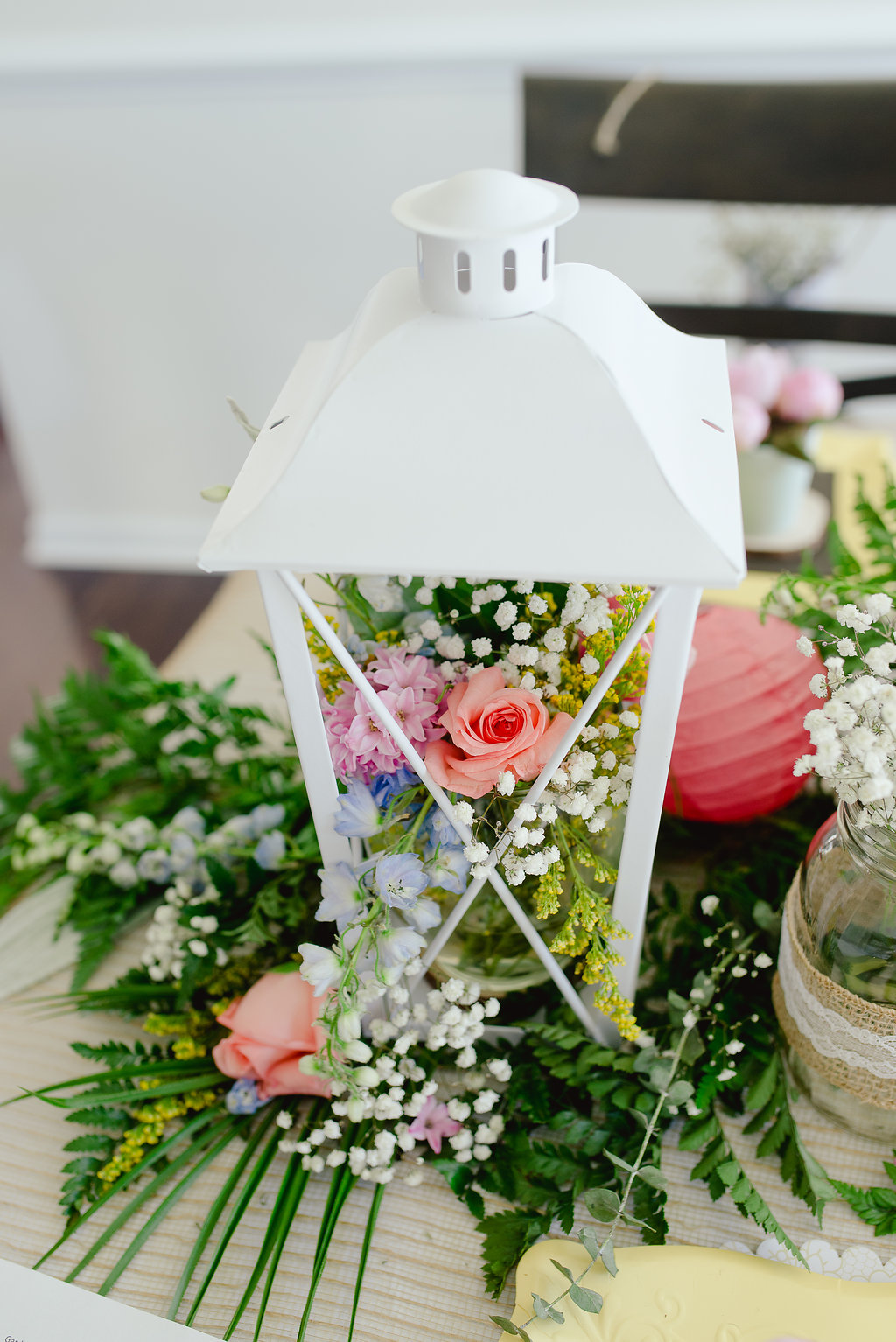 Garden Party Bridal Shower Ideas Centerpiece