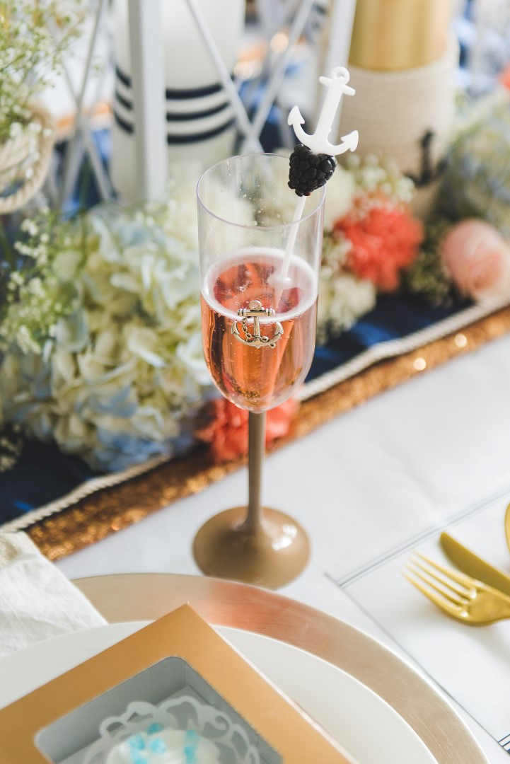 DIY Wedding Ideas for a Nautical Wedding , Champagne Cocktail Recipe