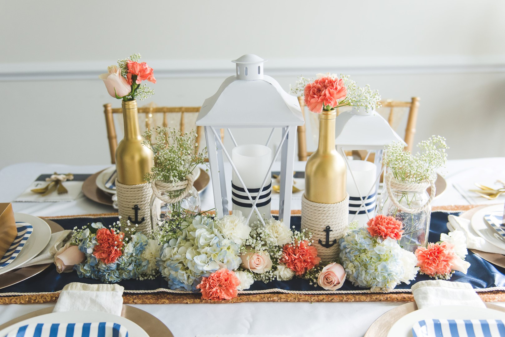 DIY Bride: Elegant Nautical Wedding Centerpiece Tutorial