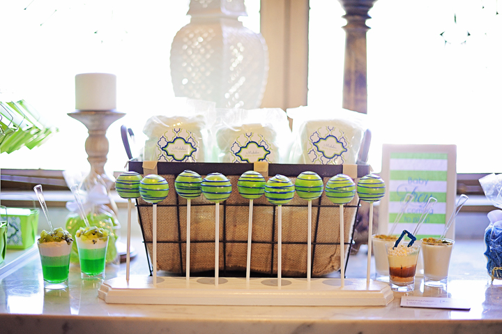 blue and green boy baby shower ideas
