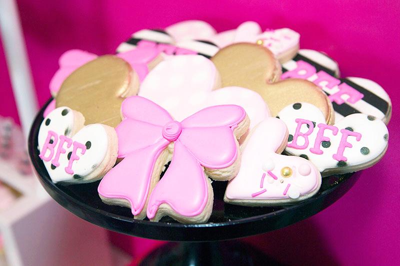 Kate Spade American Girl Doll Birthday Party cookies