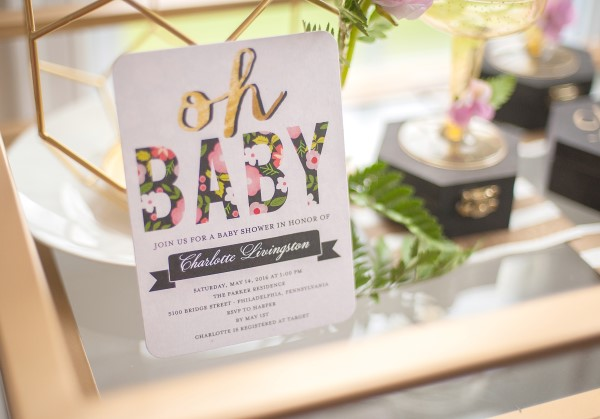 Geometric Garden Baby Shower Invitation