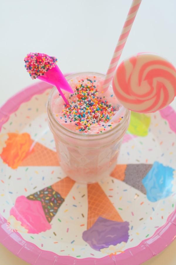Rainbow Ice Cream Party Milkshake Recipe