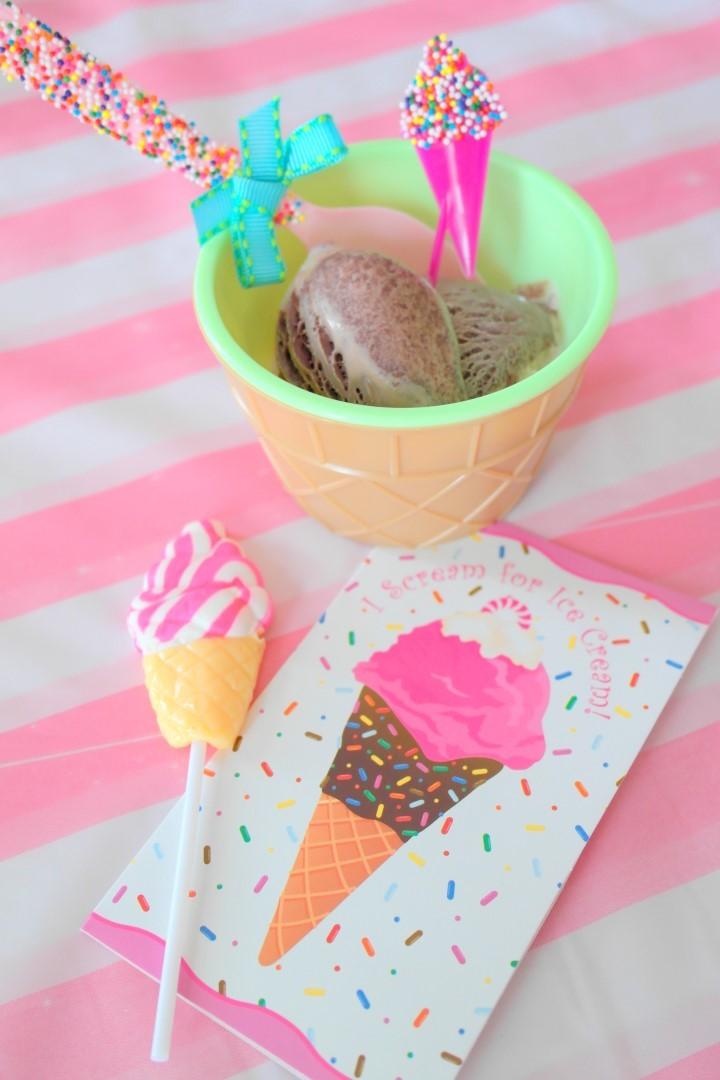 Rainbow Ice Cream Party