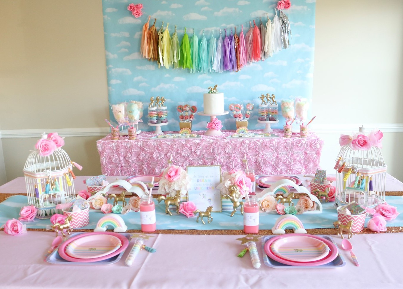 Rainbow and Unicorn Party Ideas