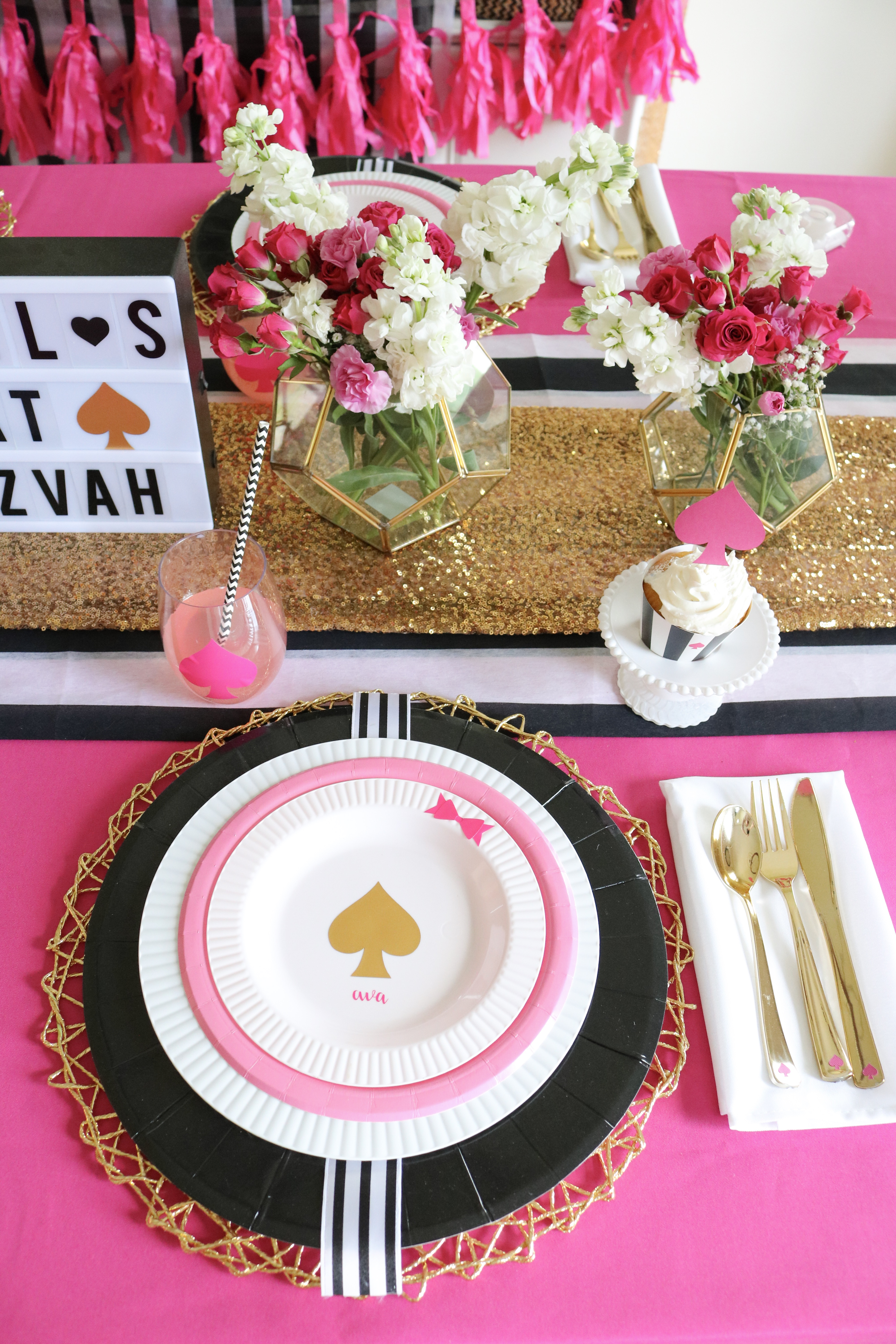 3c252d58f9a2 Kate Spade Inspired Bat Mitzvah Decor Ideas Made Easy with Cricut - PLUS  GIVEAWAY!