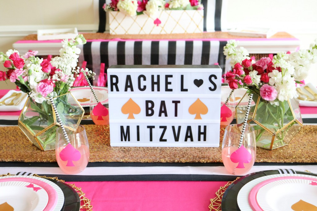 Kate Spade Inspired Bat Mitzvah Decor Ideas Made Easy with Cricut - PLUS GIVEAWAY!