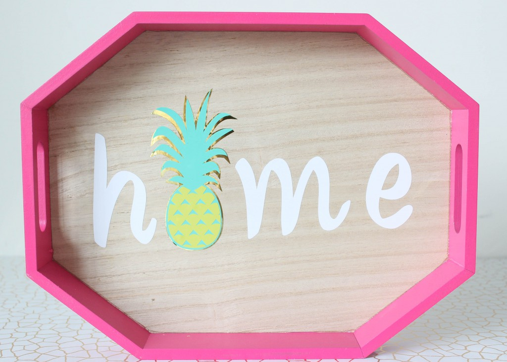DIY Pineapple Home Tray