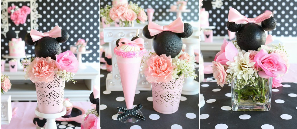 Pink and Black Minnie Mouse Birthday Party Ideas