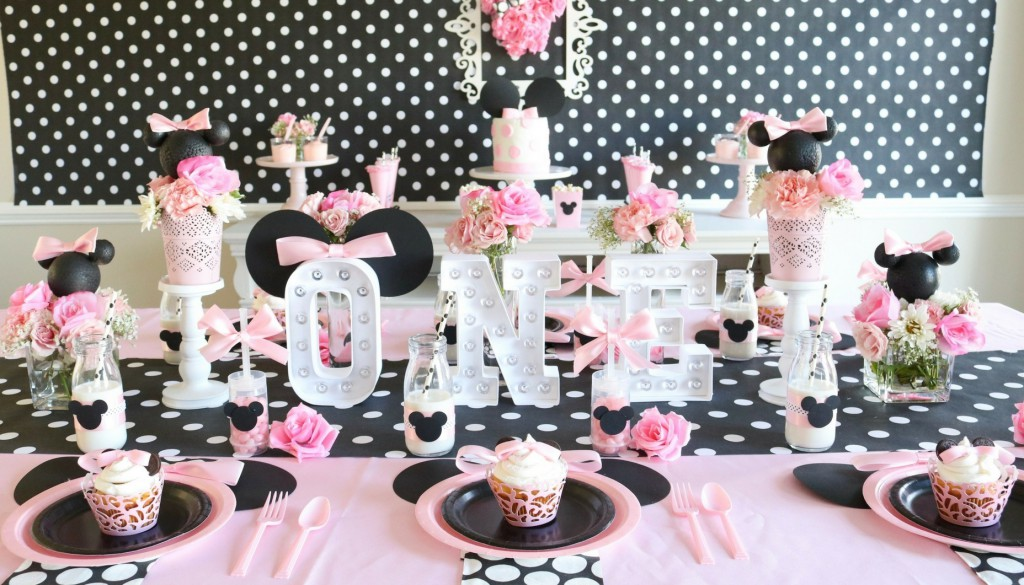 Pink and Black Minnie Mouse Party Ideas