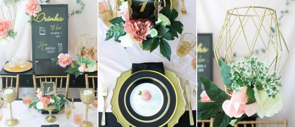 Pink, Black and Gold Wedding Ideas