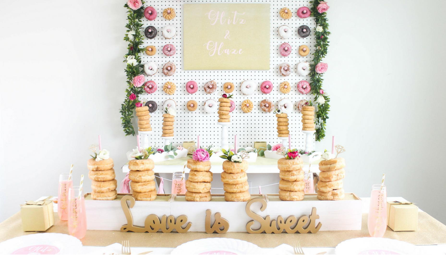 c1ca64d1a7f3 Glitz-and-Glaze-Donut-Bridal-Shower-Full-Party