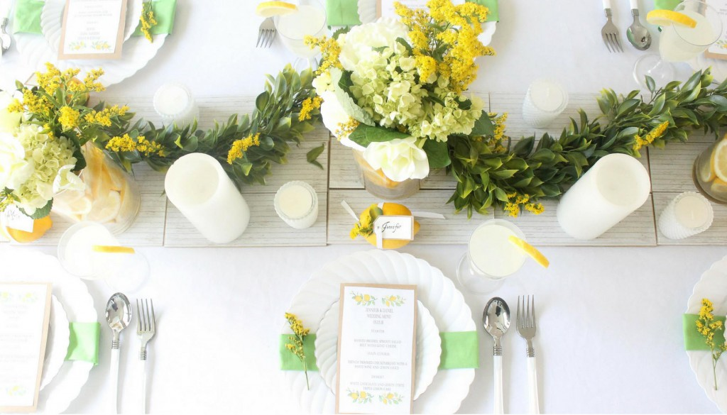 Lemon-Wedding-Table-Place-Settings
