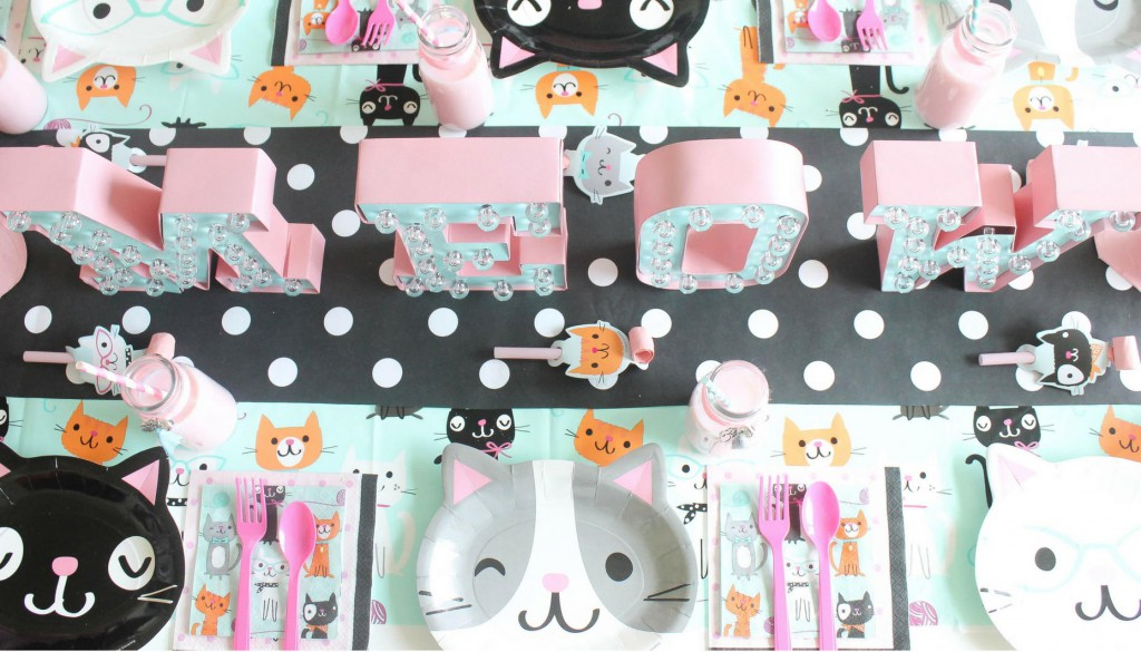 Purr-Fect-Cat-Party-Place-Settings